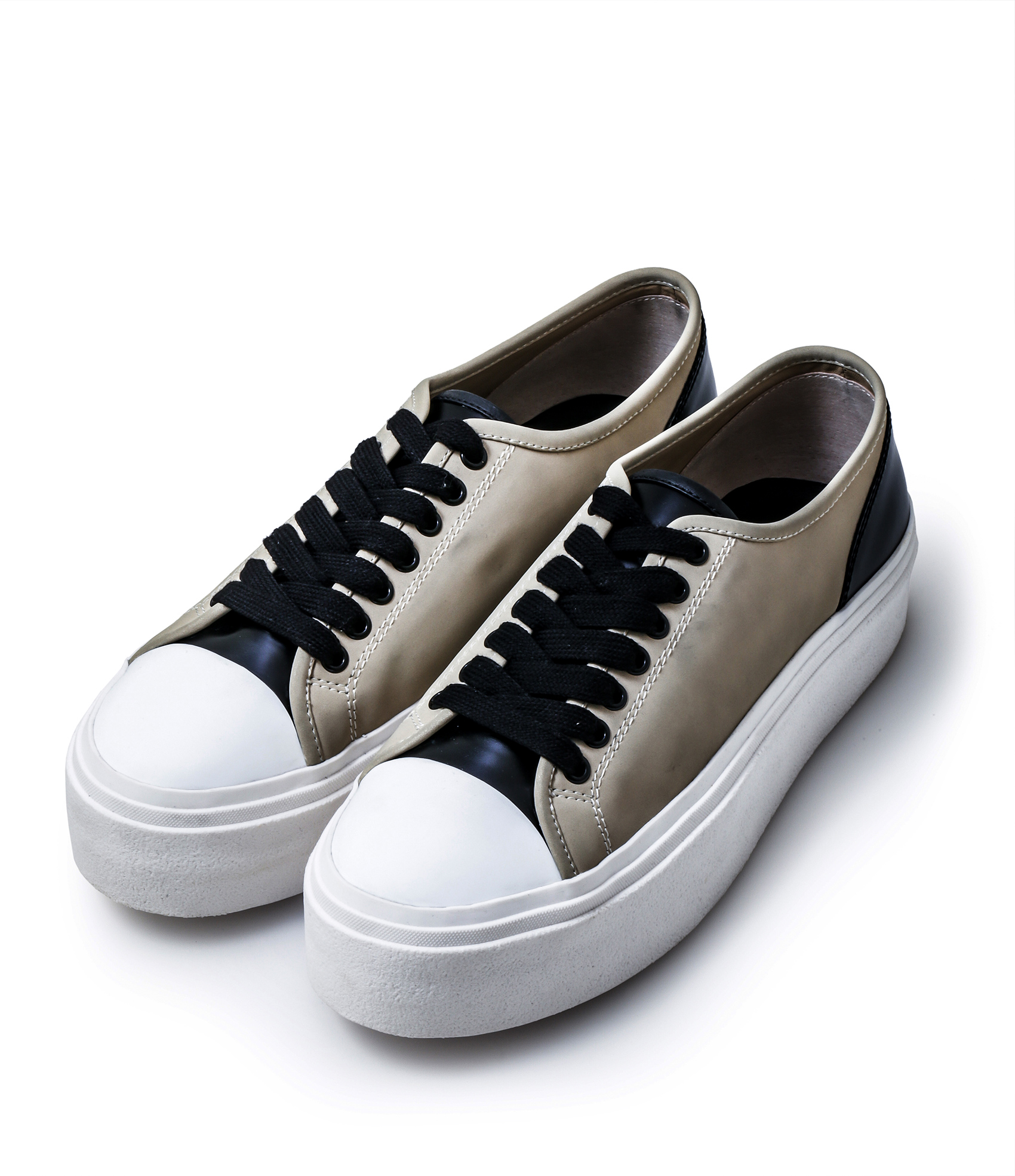LEATHER SNEAKERS / SUEDE BAIGE